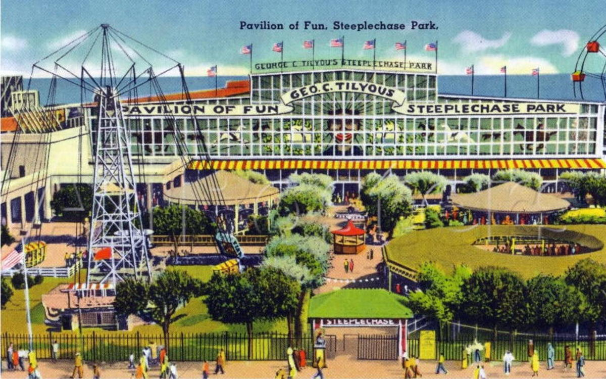 Steeplechase Park. It's name came from it's signature mechanical horse ride.