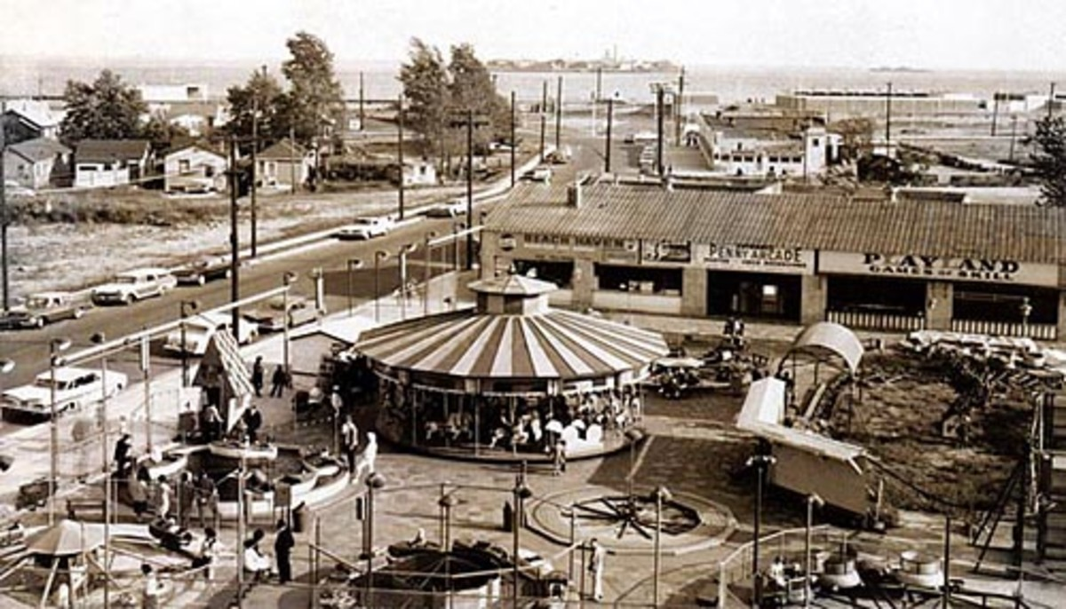 Thanks to Robert Moses, the entirety of amusements on Staten Island was reduced to this small family owned amusement park on Sand Lane. Complaints from  nearby residents was too much for the owners who finally closed the park.