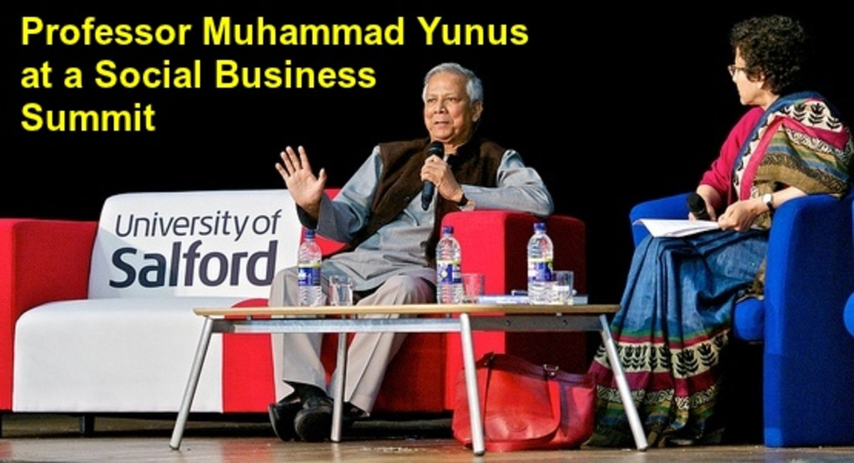 Professor M Yunus at a Social Business Summit