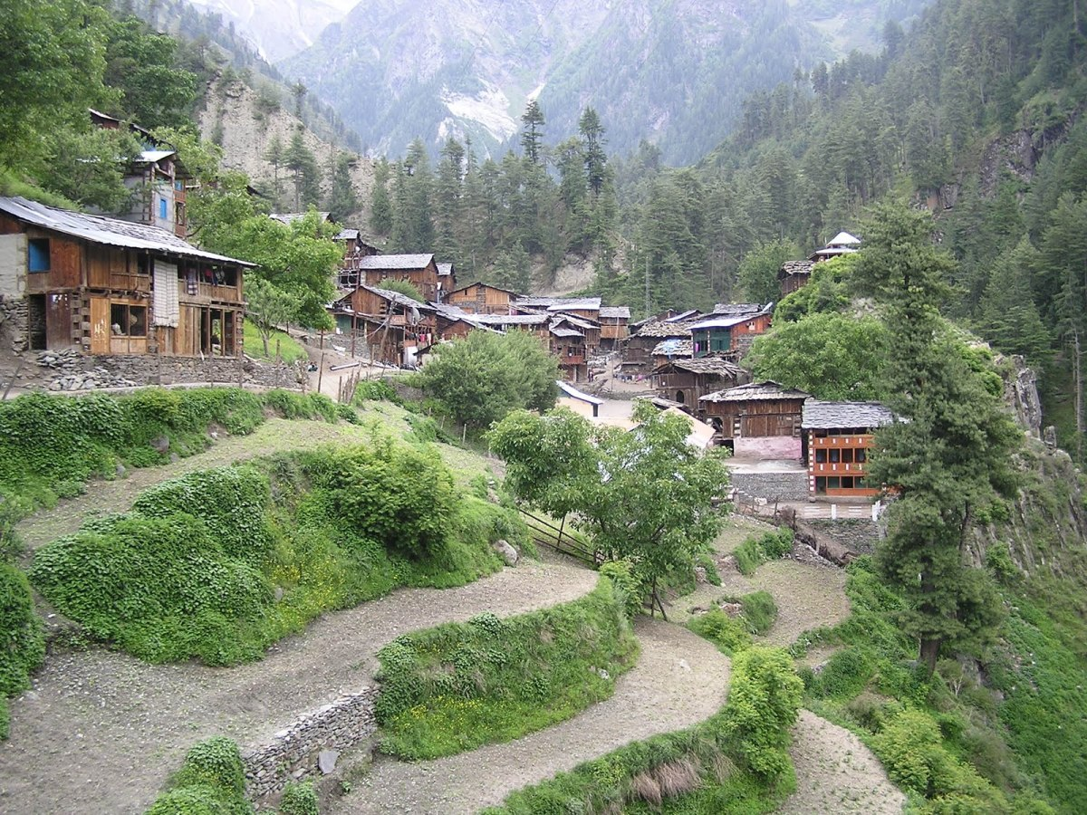 Beautiful Kugti village at Bharmour