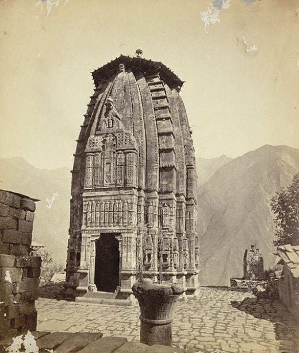 The Narsingha Temple at Brahmaur, 1875 AD, British Library, online gallery,