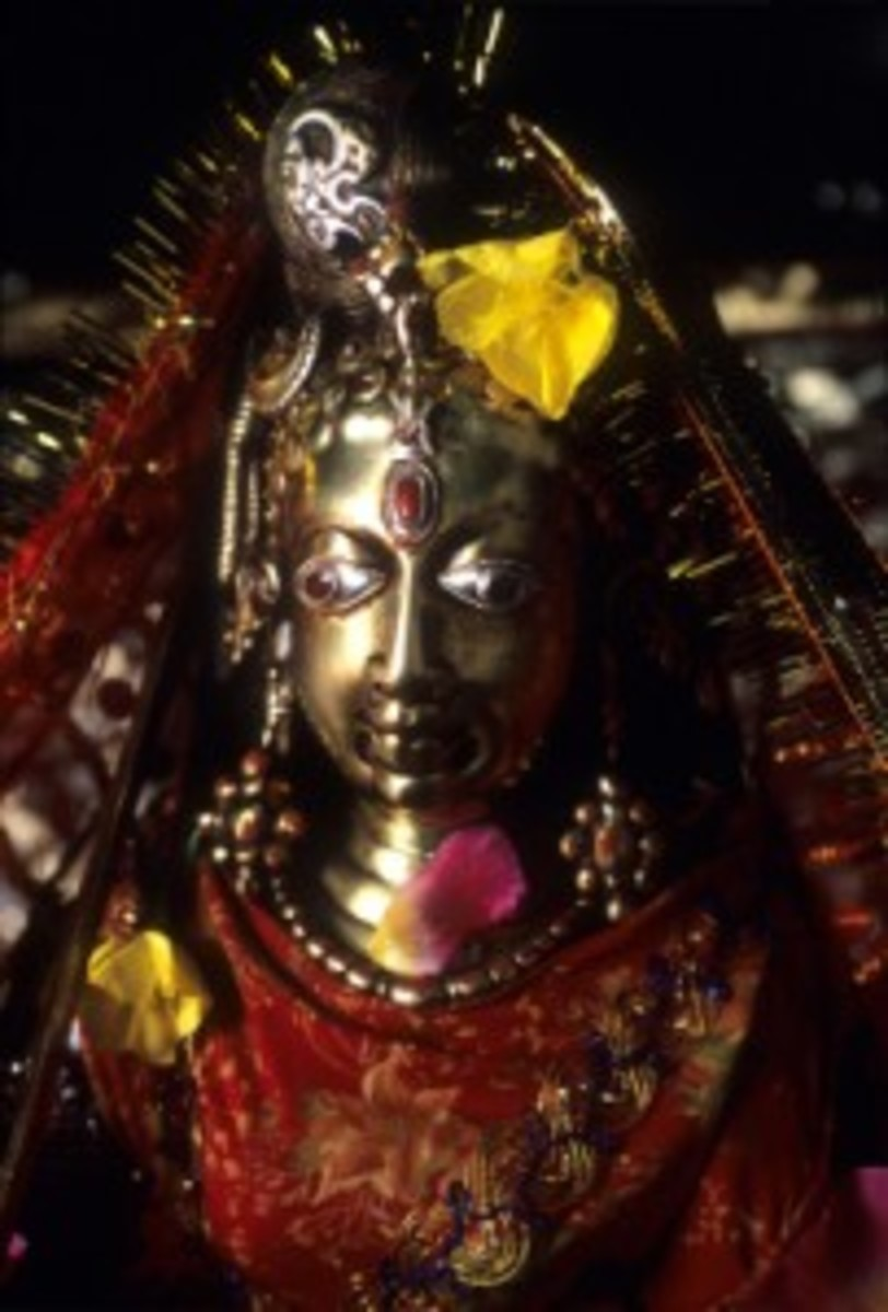 Idol of Goddess Lakshana Devi