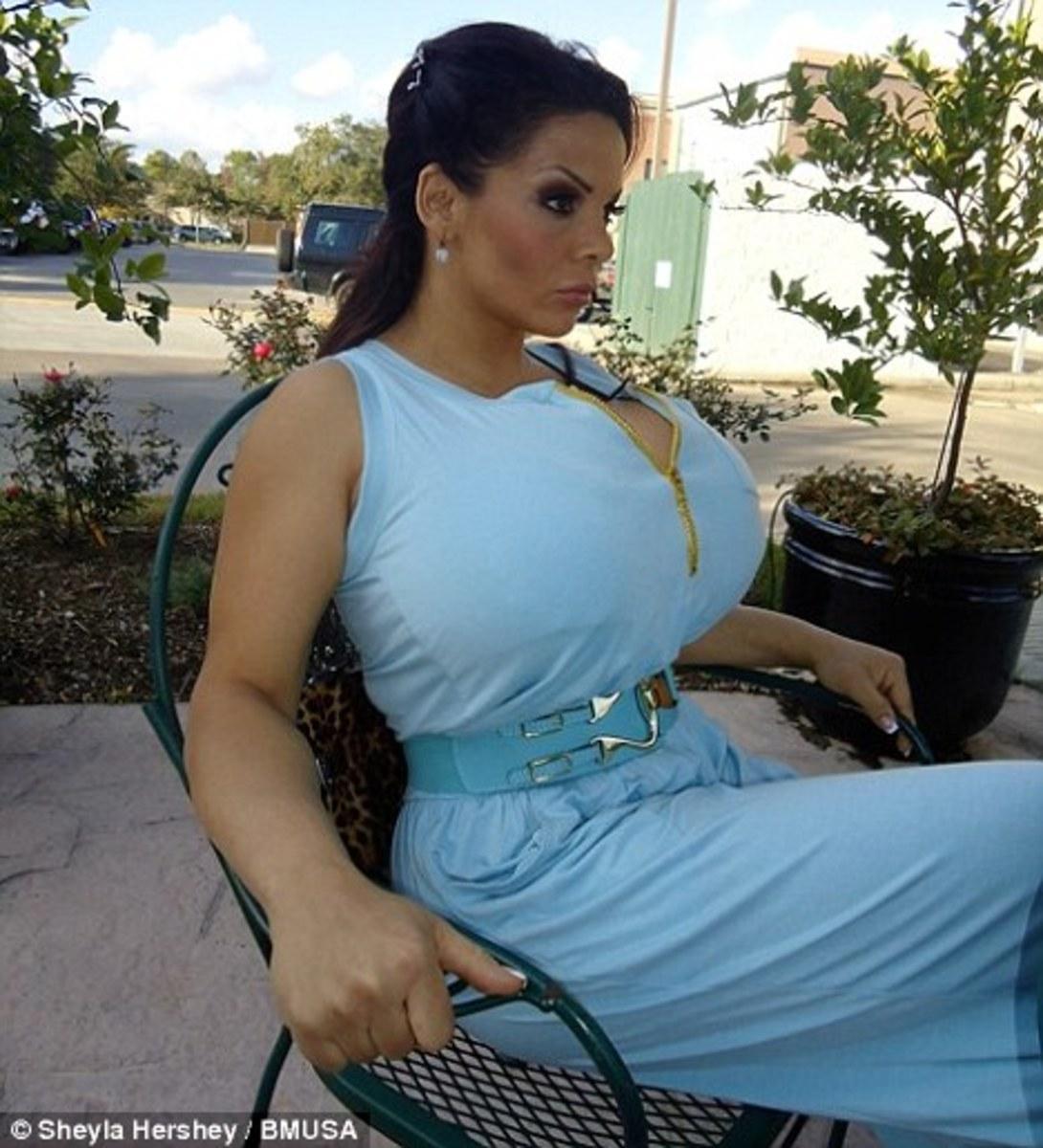 huge natural breast