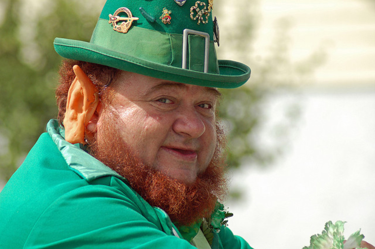 Leprechaun costumes are popular for St. Patrick's Day.