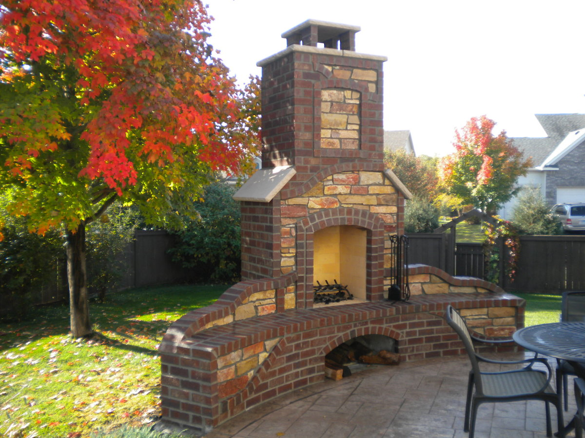 Home Improvement Outdoor Stone Fireplaces