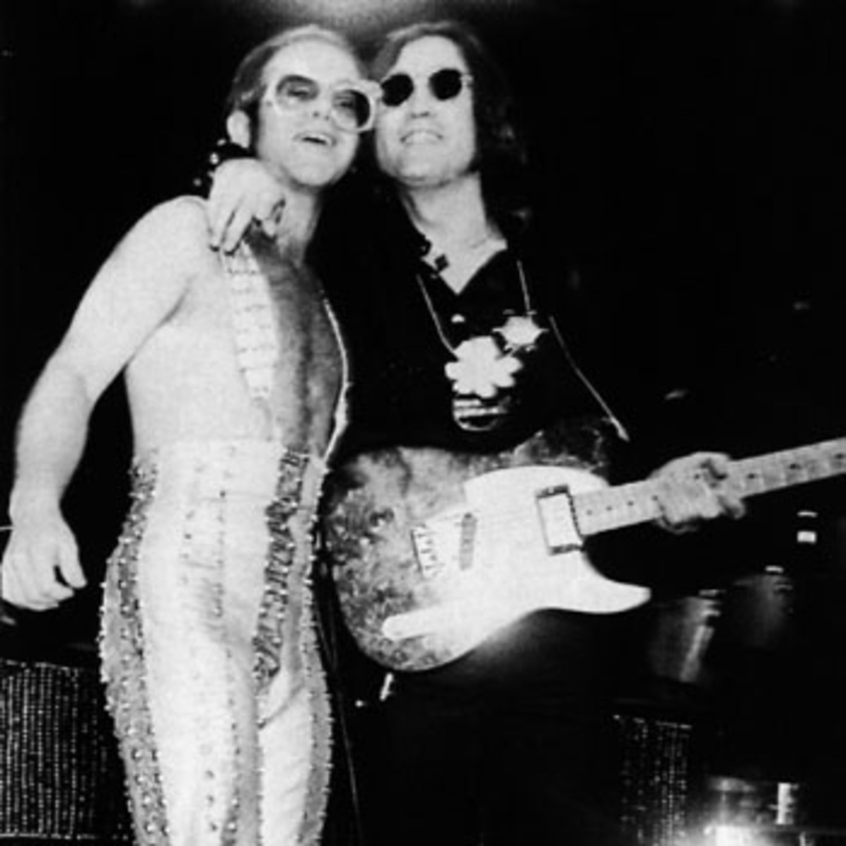 "Elton John and John Lennon performed ""I Saw Her Standing There"" at Madison Square Garden in November, 1974."