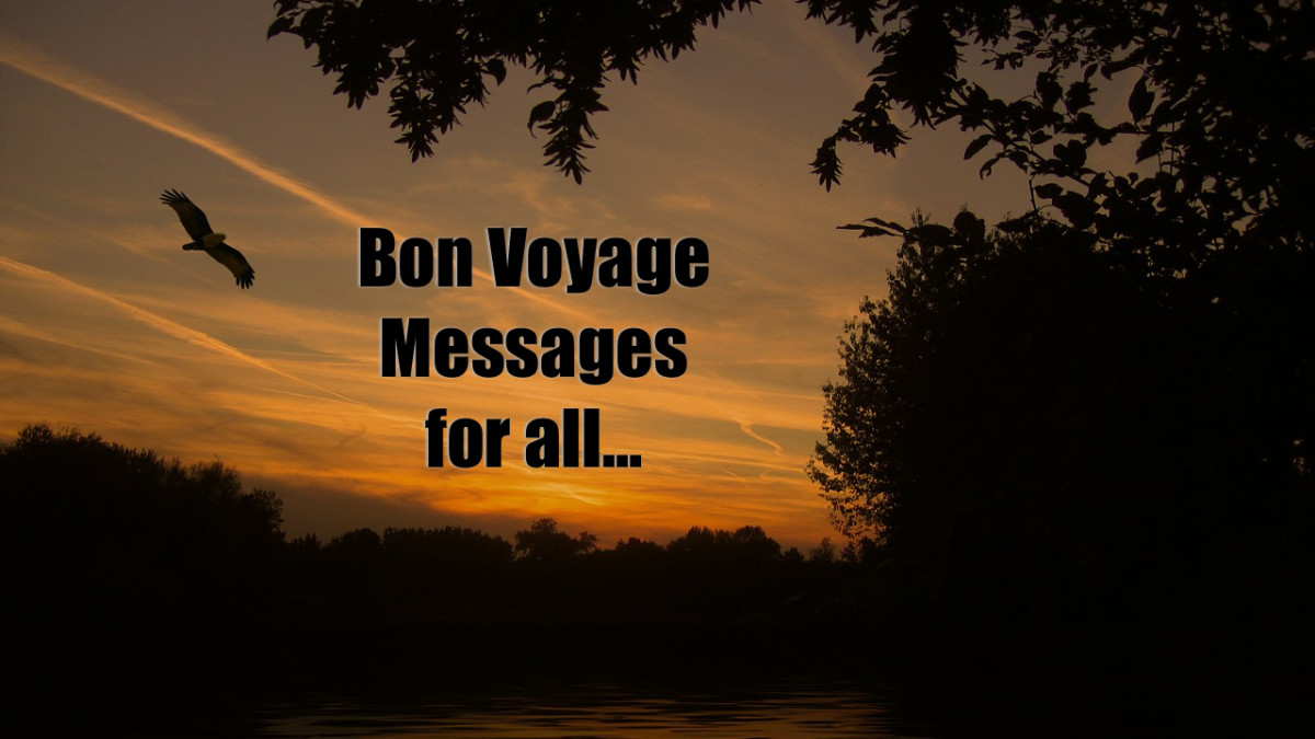 What to say in a Bon Voyage card - Messages for Friends, Boyfriend/Girlfriend, Parents, Daughter, Son, Colleagues, Boss