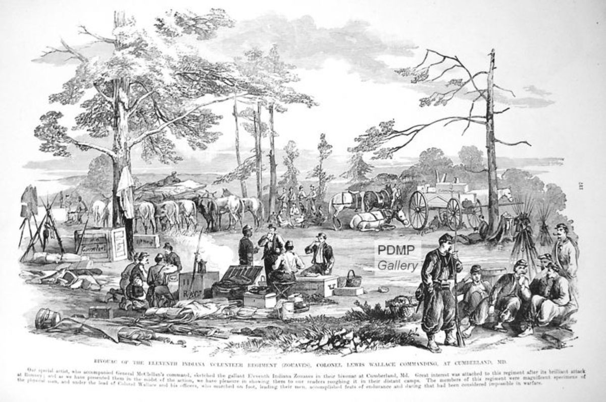 Sketch - bivouac of an Indiana regiment