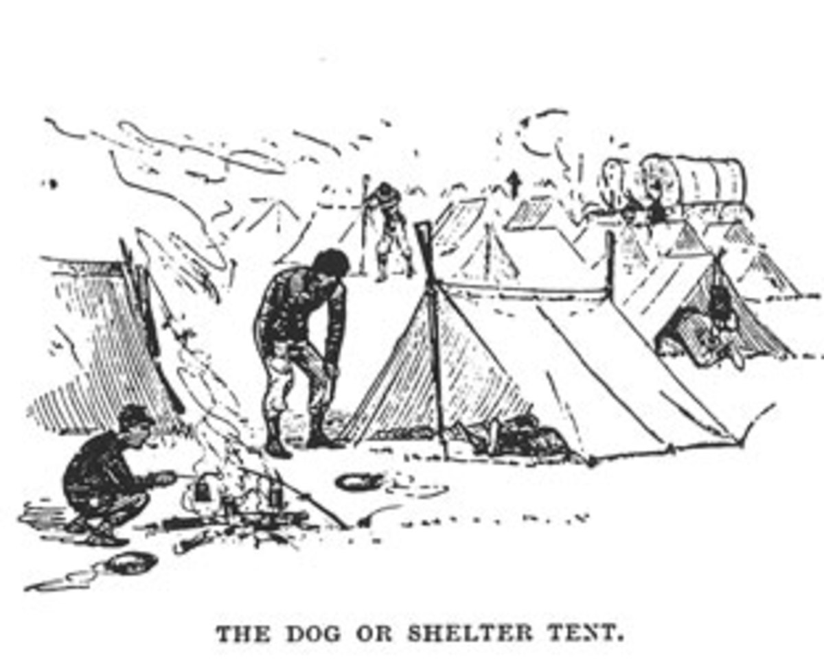 Sketch - troops in their bivouac