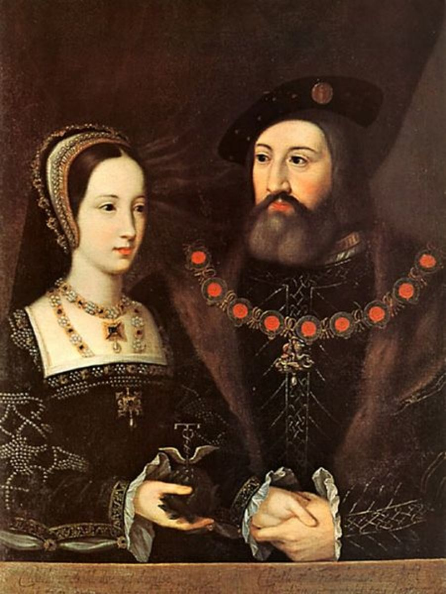 Mary Tudor married Charles Brandon in secret before their public marriage on Mary 13, 1515.