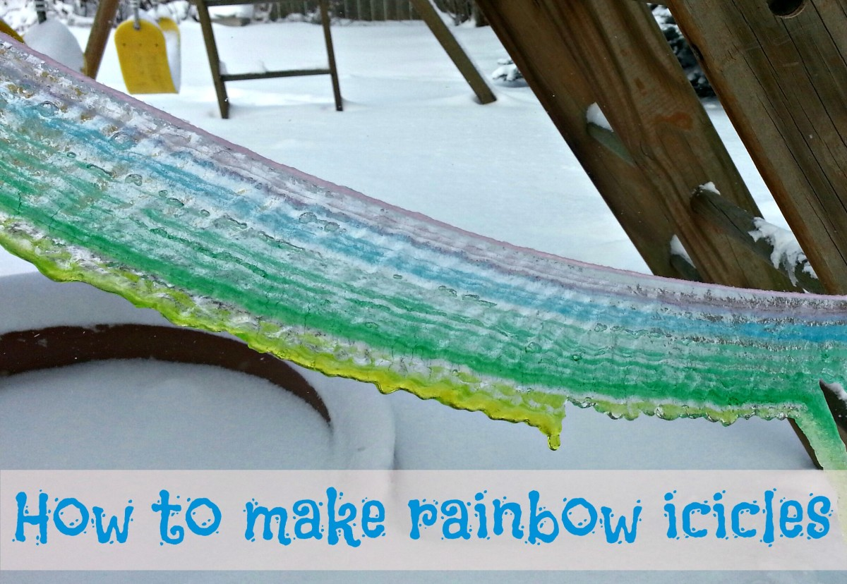 How to make beautiful rainbow icicles