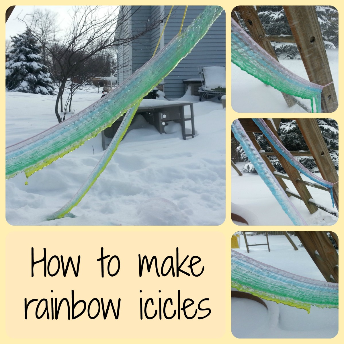Ice Art | How to Make Rainbow Icicles
