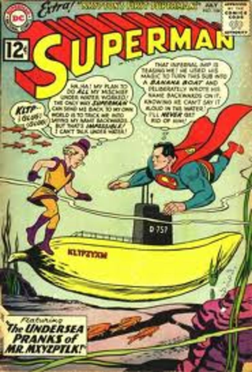 Mr Myxzpltk comes once again to make Superman's life a misery in issue 154.
