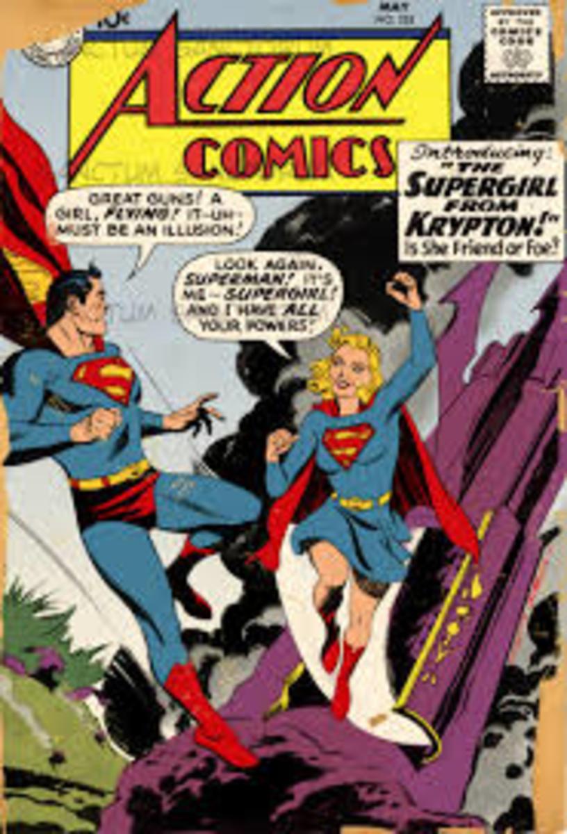 Supergirl lands on Earth.