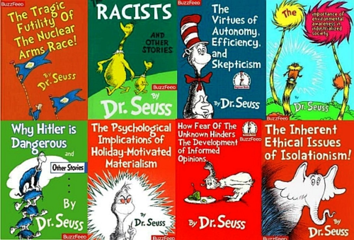 Dr. Seuss titles with politically philosophical twist.