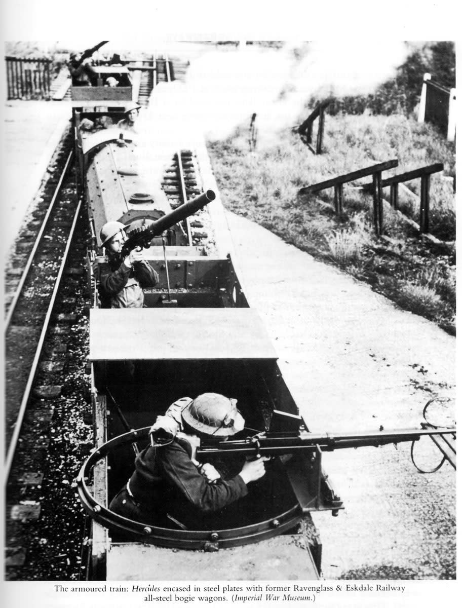Another view of the armoured train