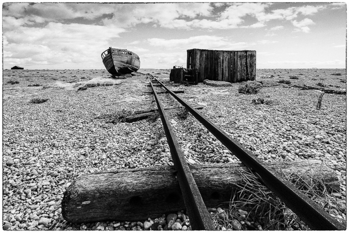 Remains of the track to Dungeness fishing boats