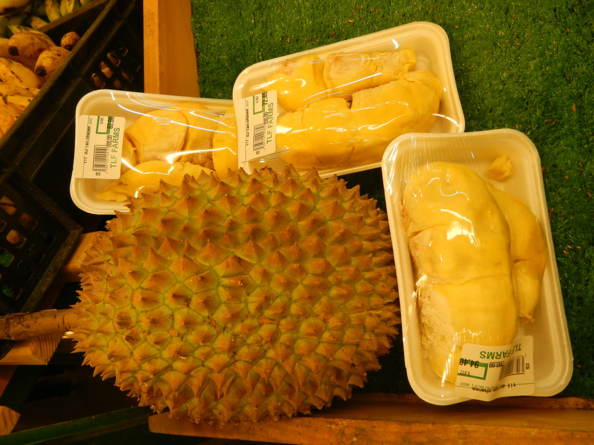Durian pulp packed for sale
