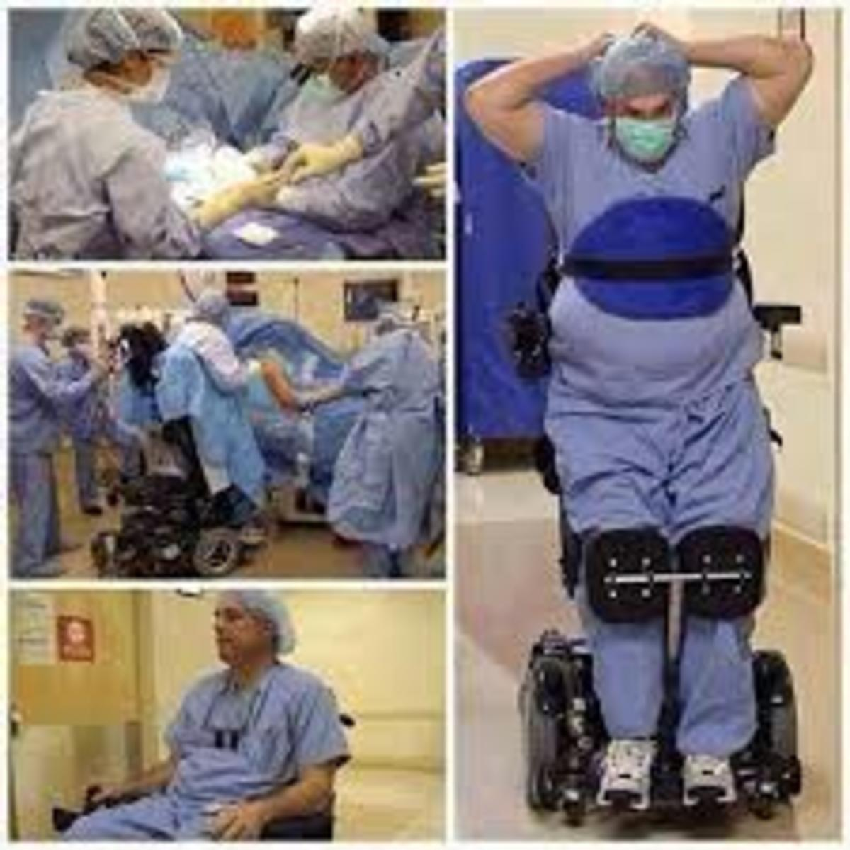 Missouri surgeon, Dr Ted Rummell, who returned to the operating room after suffering paralysis from the waist down.