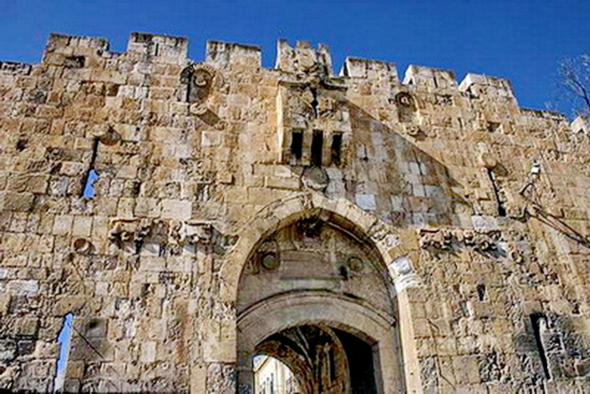 Lions Gate or Stephen's Gate or Sheep Gate. Israeli paratroops from the 55th Paratroop Brigade came through this gate during the Six-Day War of 1967 and unfurled the Israeli flag above the Temple Mount.