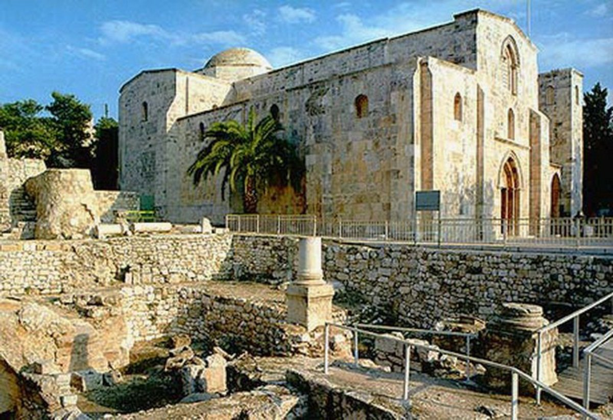Church of St. Annie and Pool of Bethesda, Jerusalem. It is numbered among the longest preserved sacred places in the city,