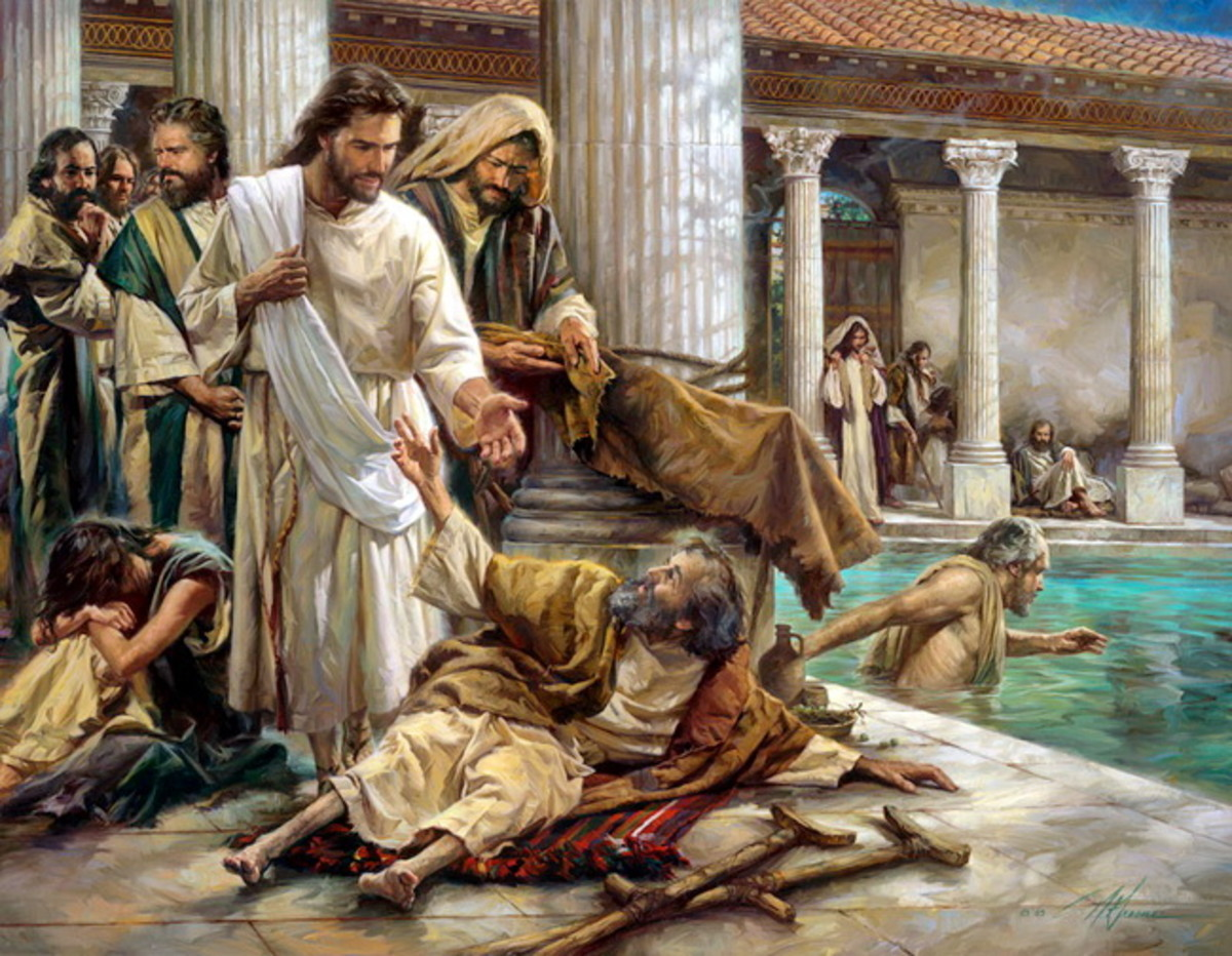 "Jesus asked the man crippled for 38 years. ""Do you want to be made well"". ""Sir, I have no man to put me in to the pool when the water is stirred up; but while I am coming, another steps down before me"". Said the crippled."