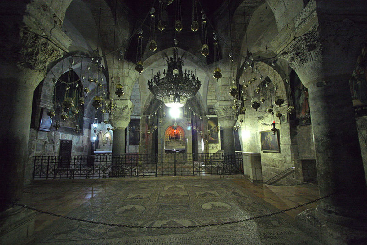 Church of Helena, place where Queen Helena mother of Emperor Constantine, found the fragments of the cross