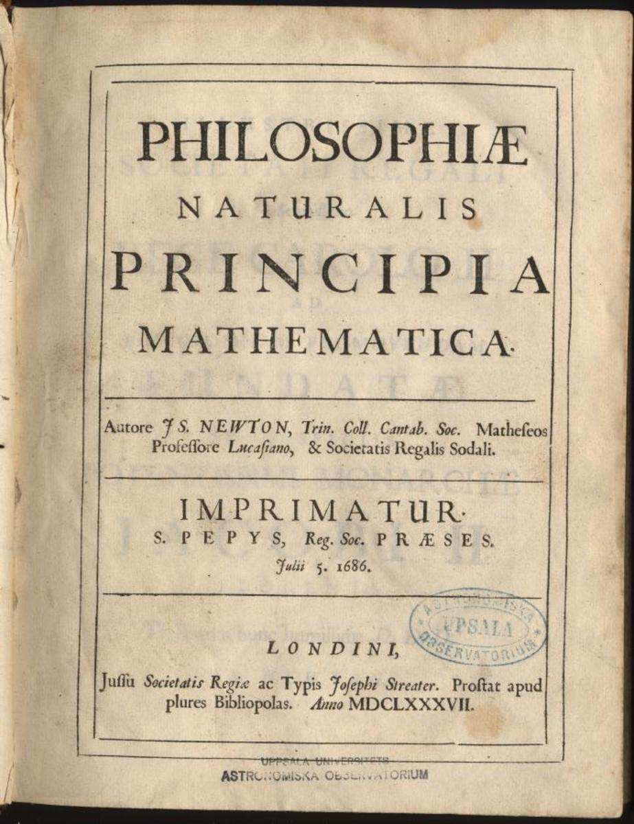 The original book of Principia