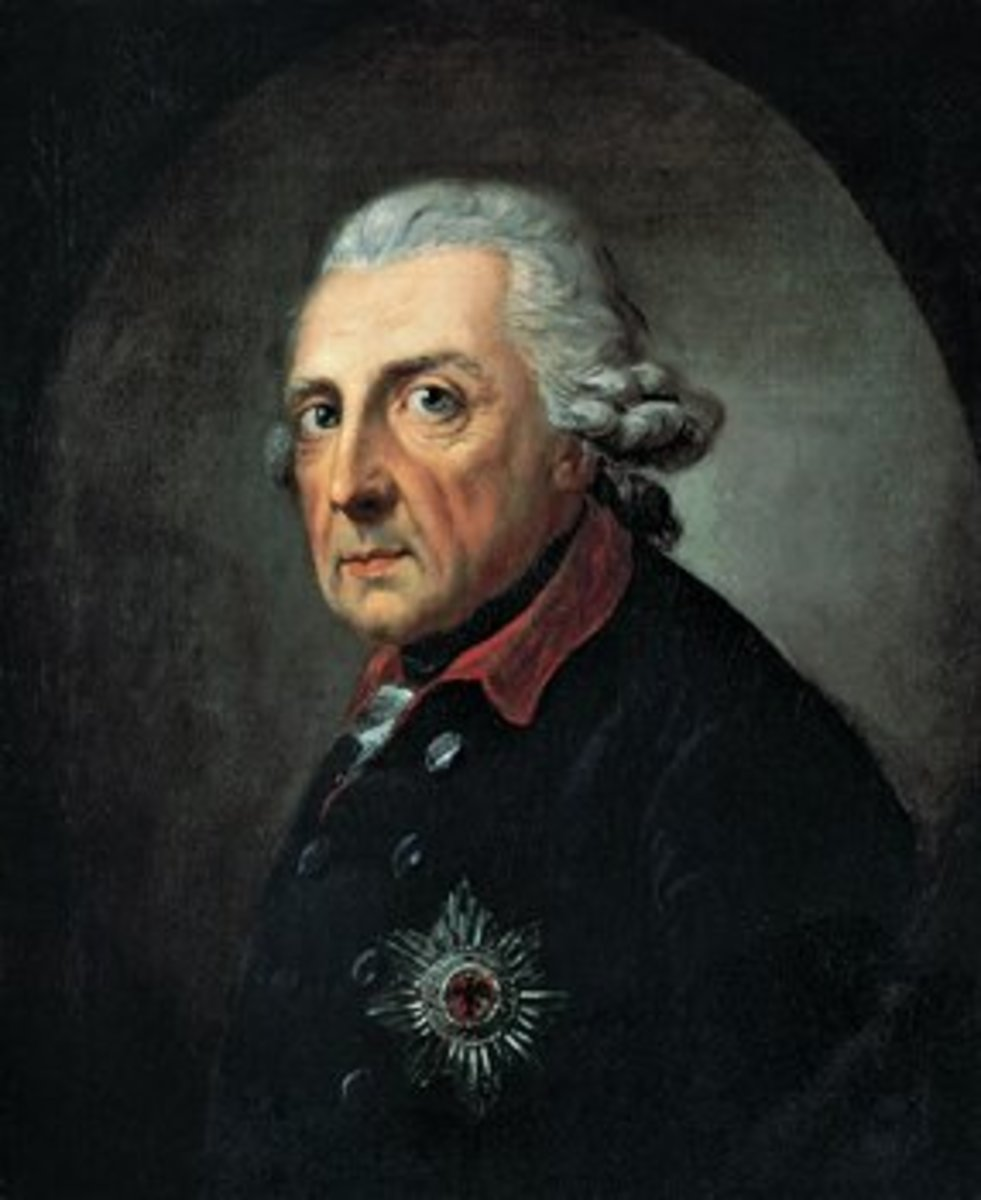 Frederick II of Prussia was admired both as a military commander and an enlightened despot. His coat is preserved in the German Historical Museum in Berlin.