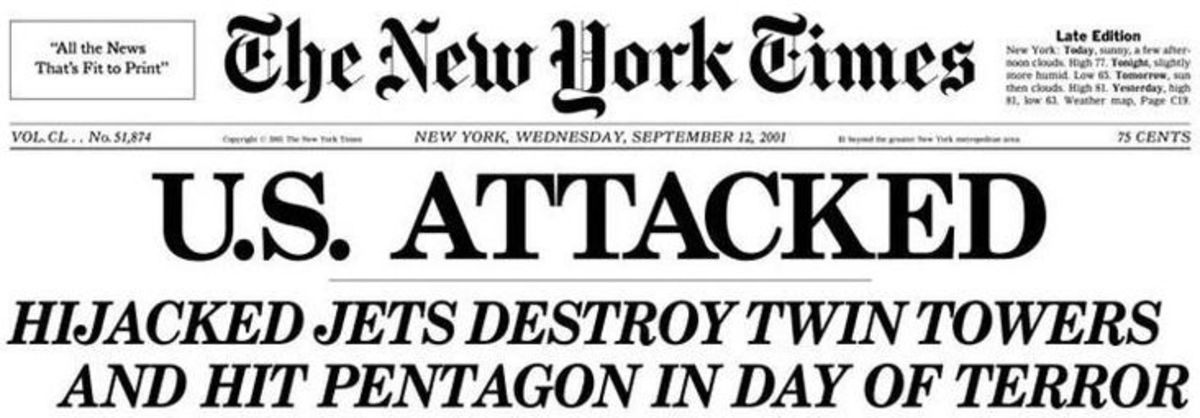 Headlines from New York Times, the day after