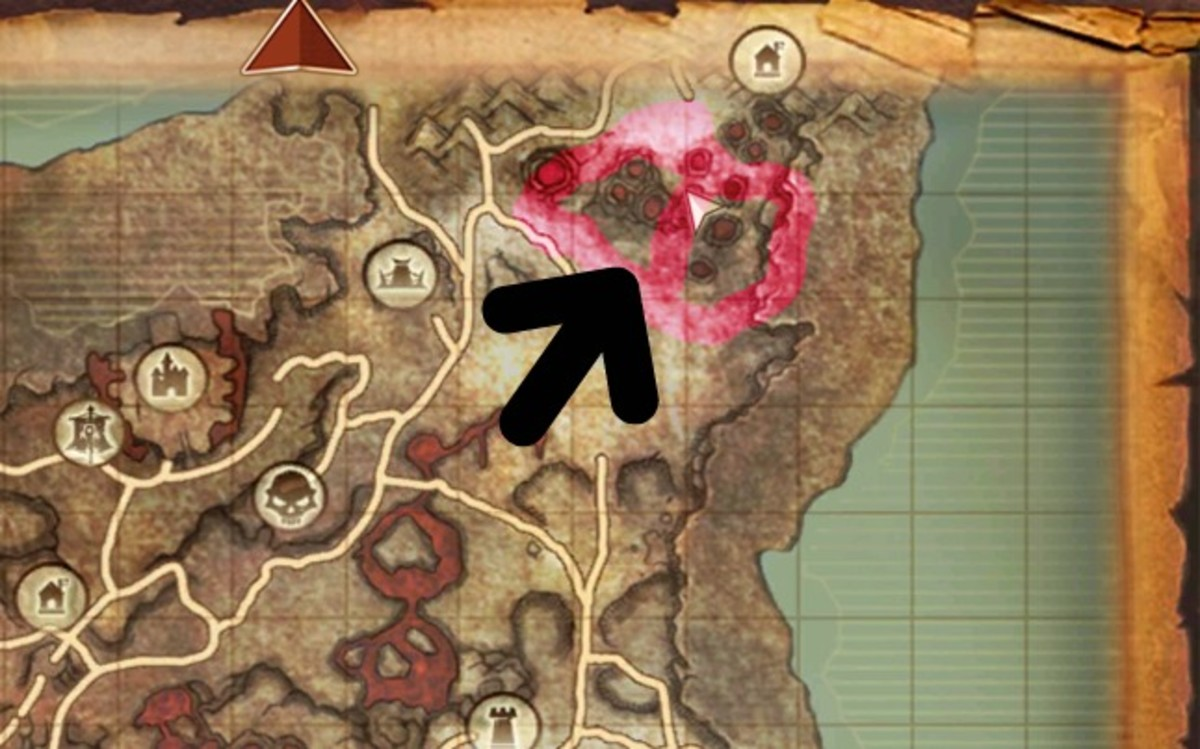 The pink is the possible area where the mount may spawn. The lower half of the circle is where you may find the Epic Lava Rent Army Horse.