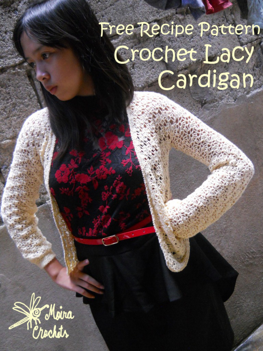 Crochet Lacy Cardigan Free Recipe Pattern