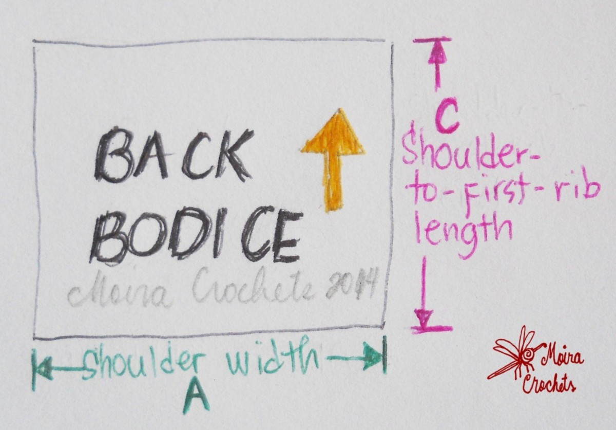 Length and width of back bodice - it's just a rectangle