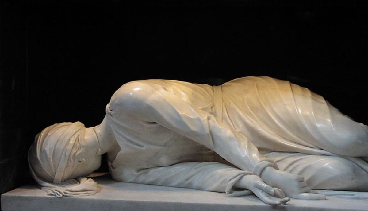 Martyrdom of St Cecilia, Church of St Cecilia, Rome