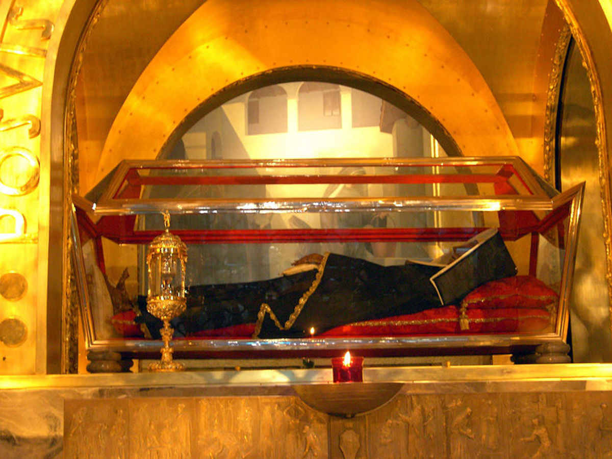 St Rita's incorrupt body on display in Cascia