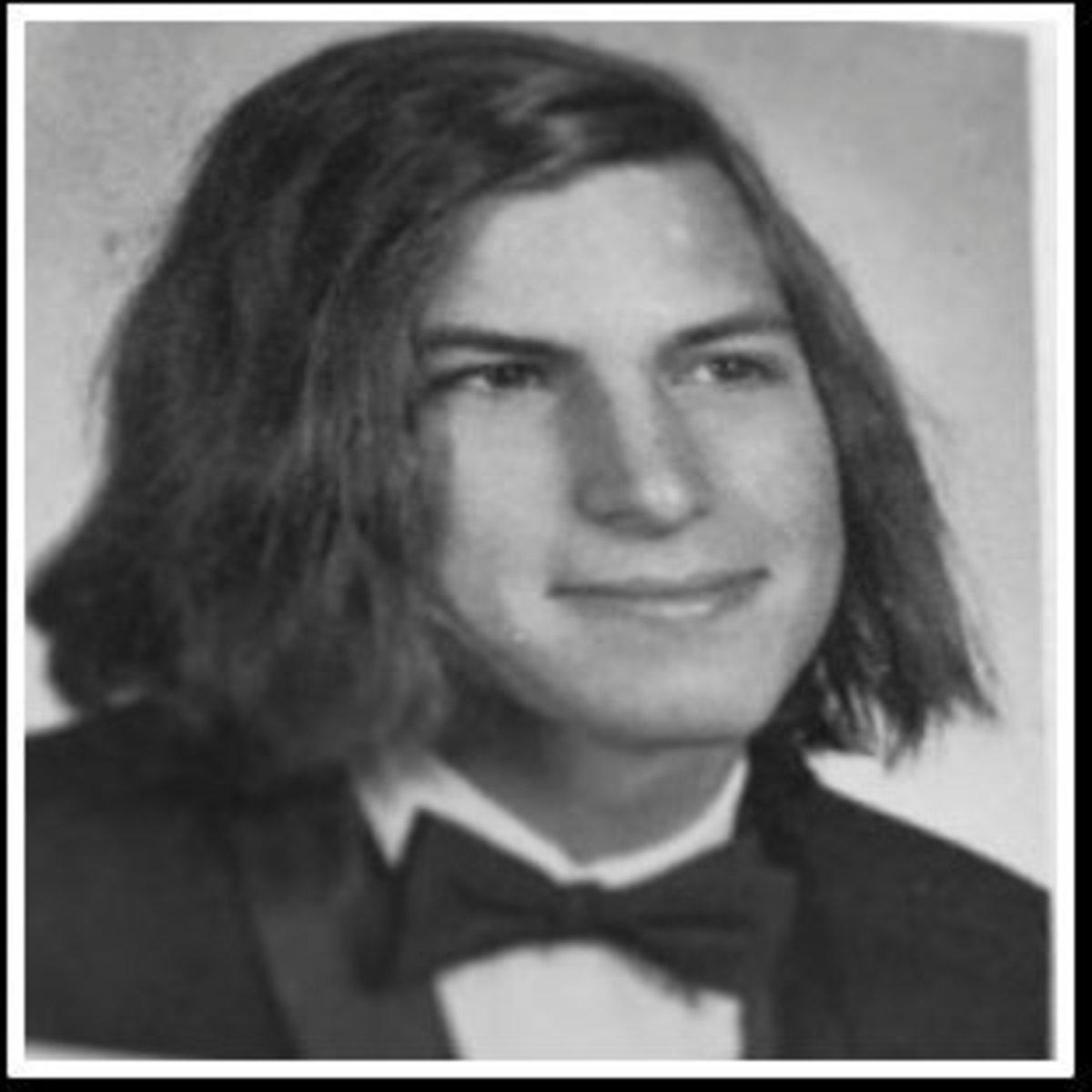 Steve Jobs -1972 yearbook pix - high school senior at Homestead  High School in Cupertino, California