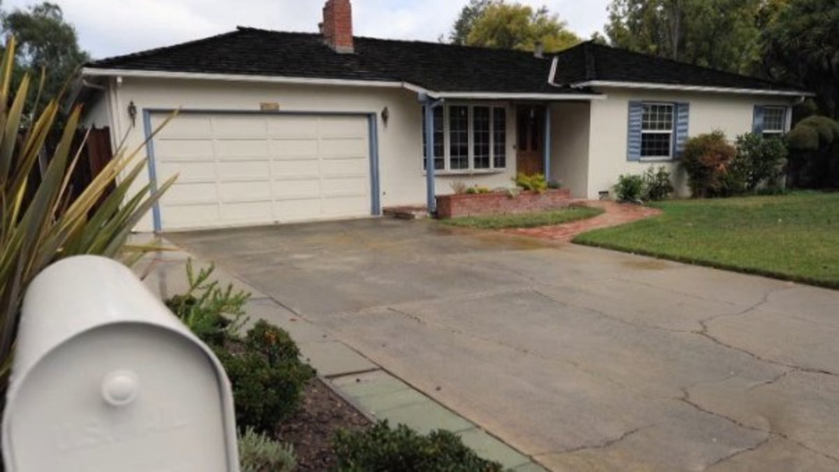 The garage at the Jobs home where Steve and Woz worked to build circuit boards to create Apple Computer Company in 1976.