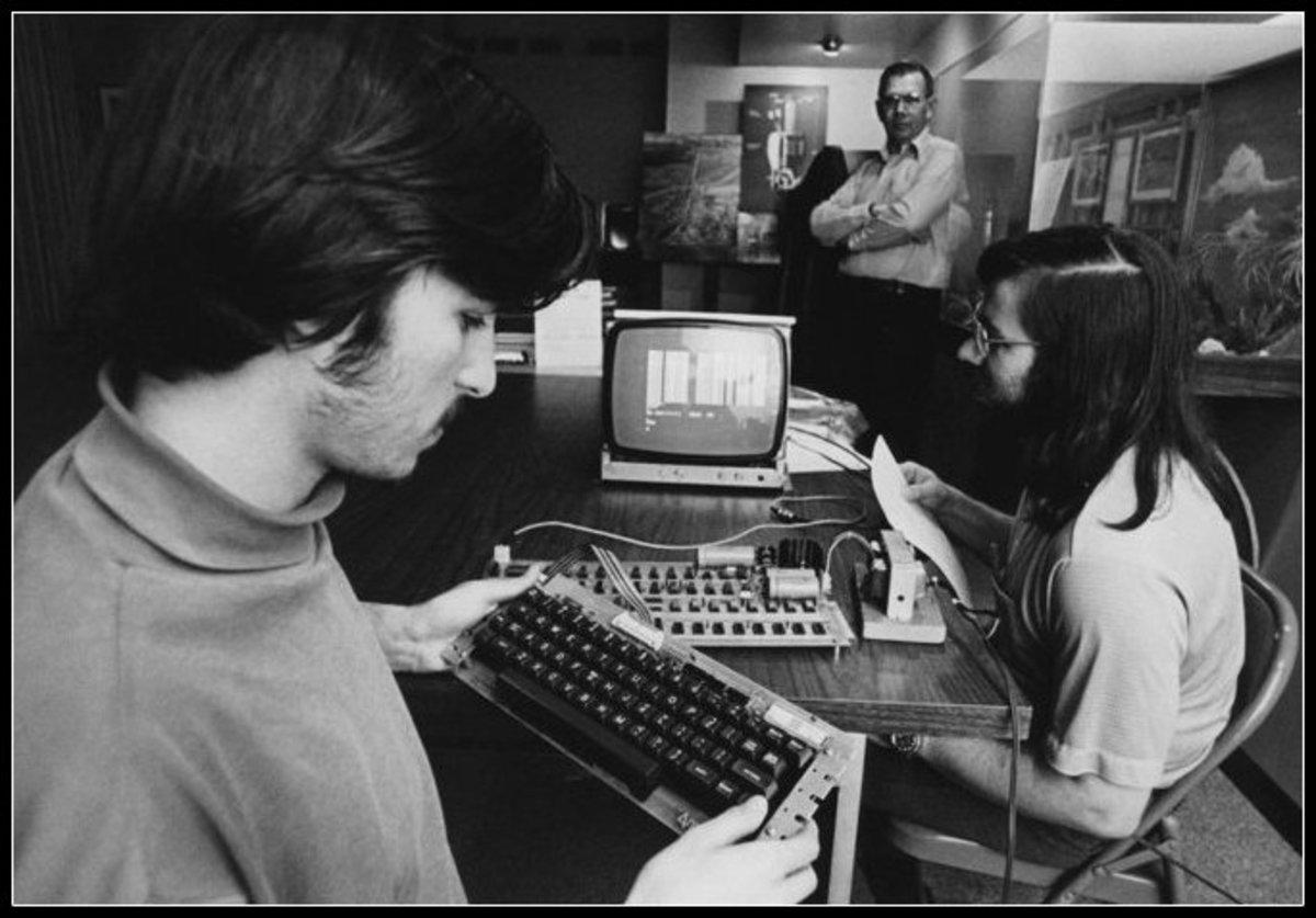 Steve Jobs seen here with  Apple 1