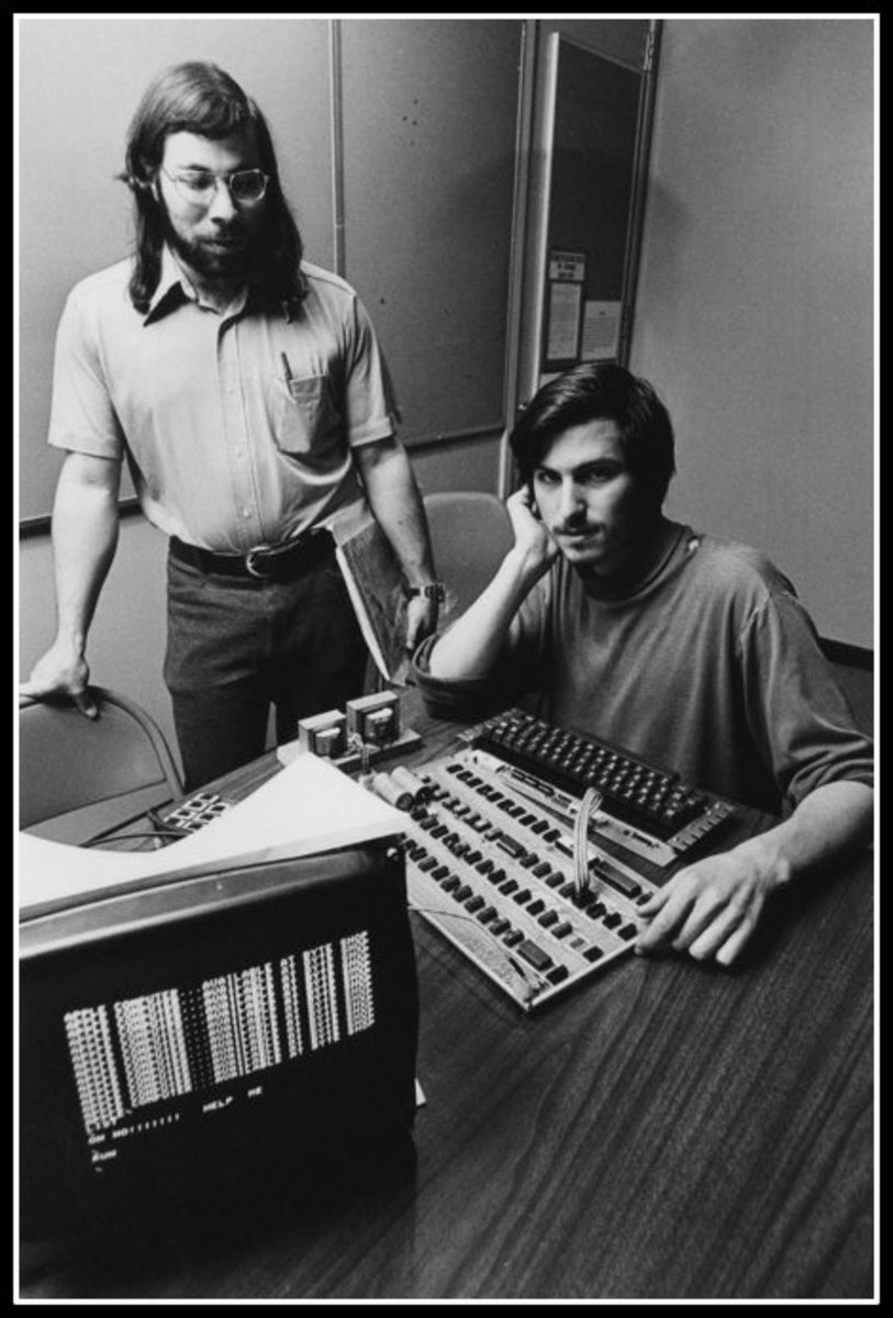 Steve and Woz with Apple I