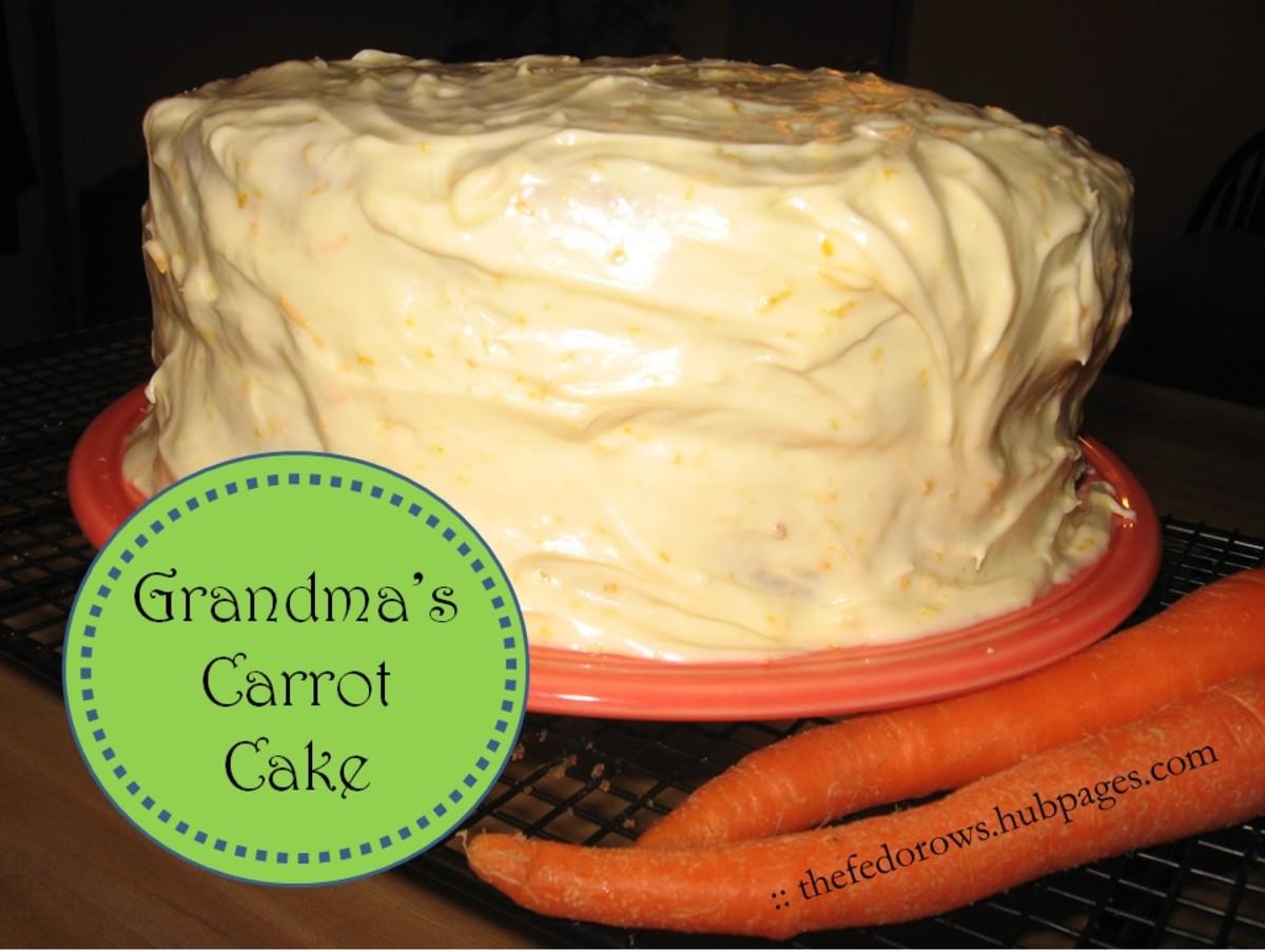 Grandma's Carrot Cake with Orange Cream Cheese Frosting