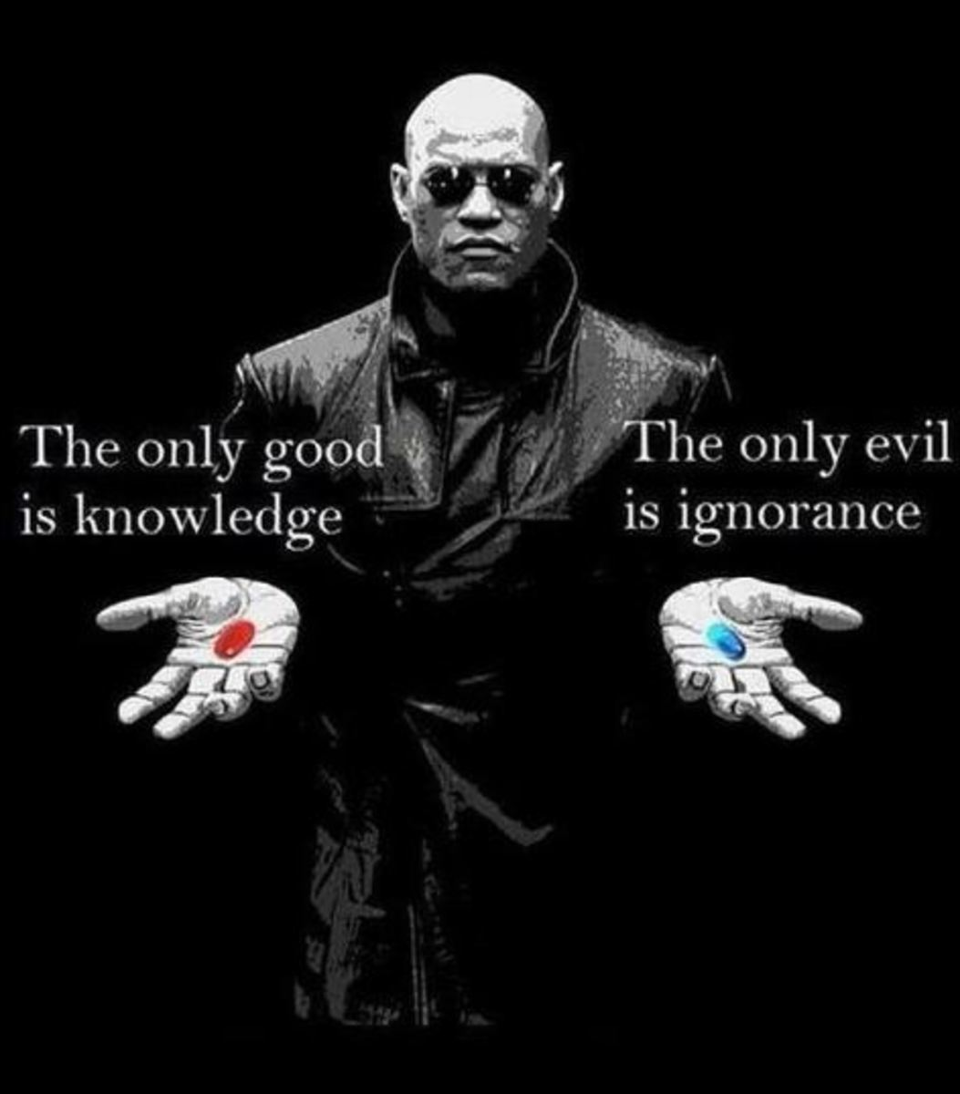 Its a choice to be ignorant. We all accept the consequences of our choices