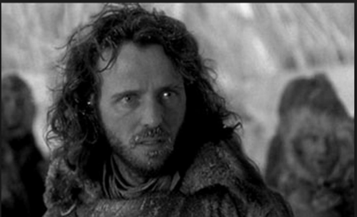 "Aidan Quinn as Captain Robert Walton in the 1994 movie adaptation of Mary Shelley's ""Frankenstein."""