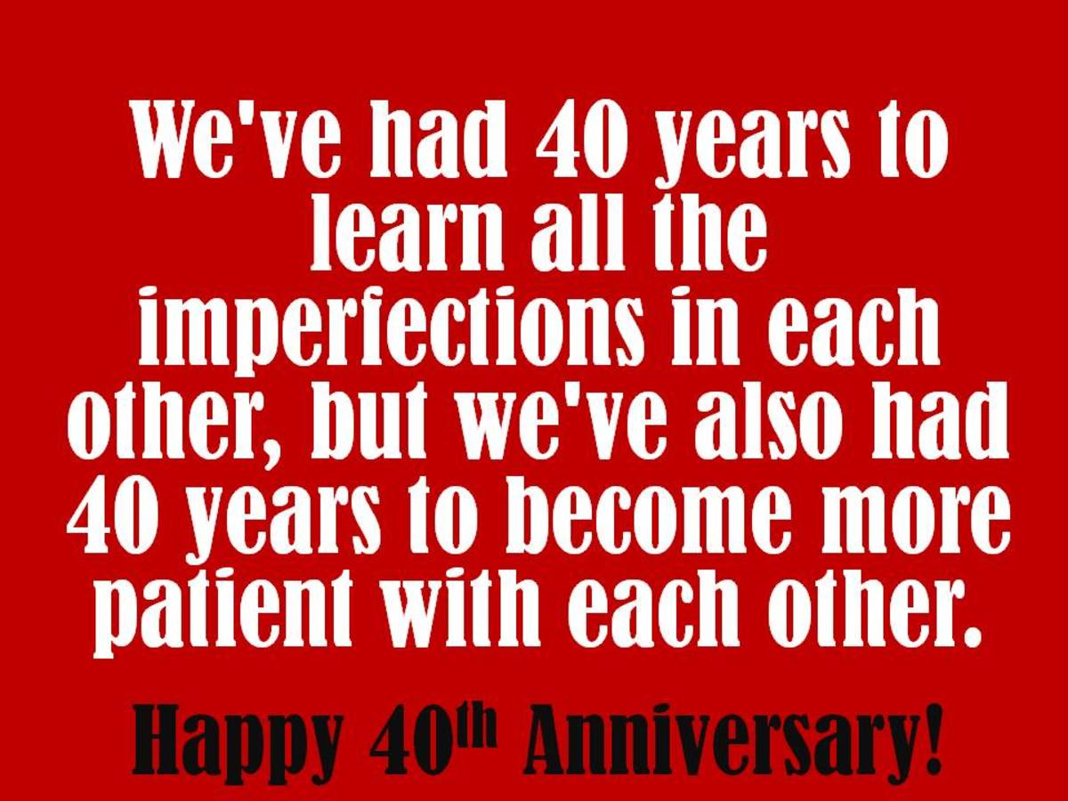 40th Anniversary Wishes, Quotes, and Poems for Cards