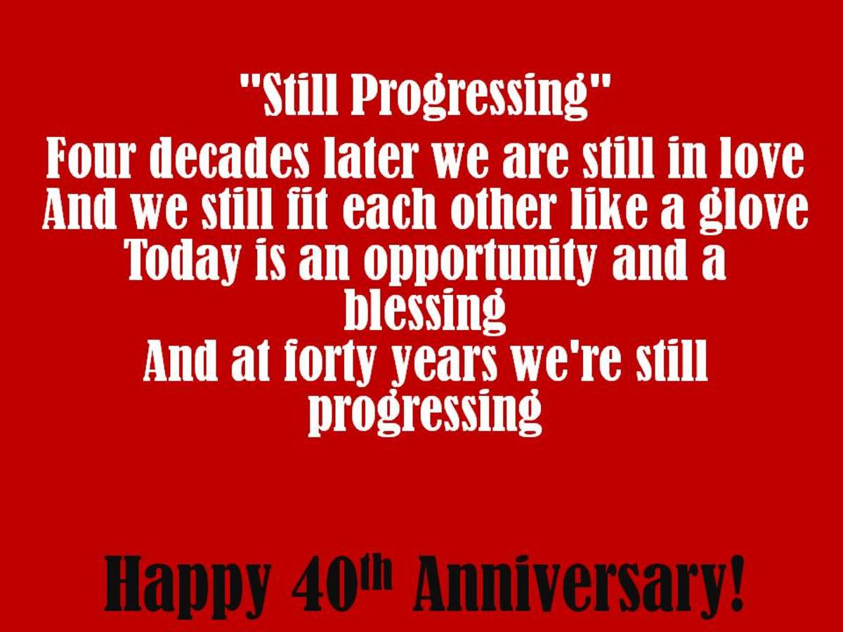 40th anniversary wishes quotes and poems for cards