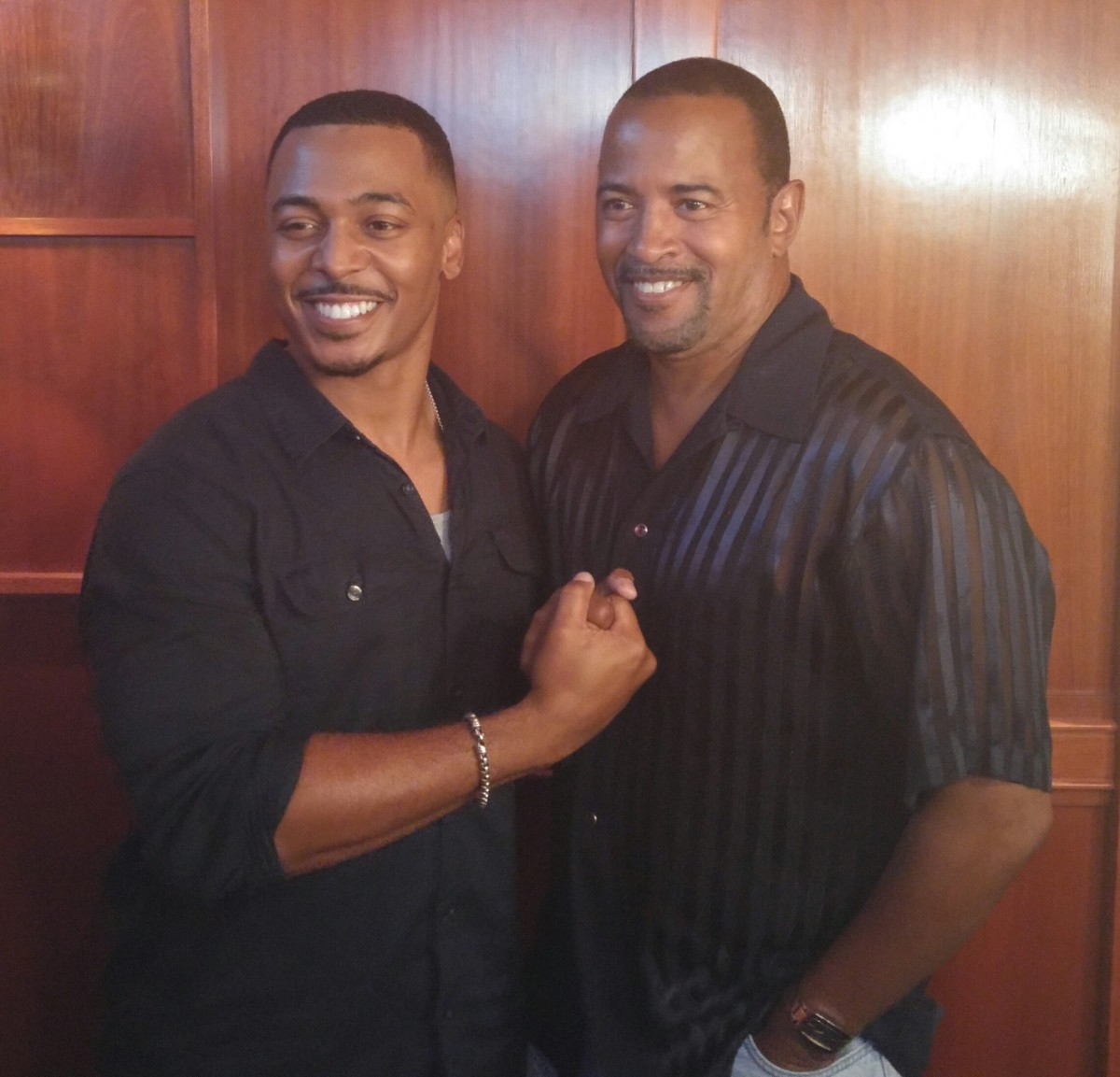 Actor Ron Reaco Lee and Troy Bland at Atlanta Actor's Training Luncheon.