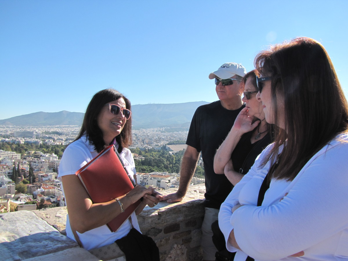 Our wonderful guide in Athens, Vicky Miniotis