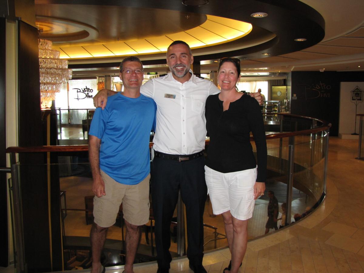 With Captain Dimitris Kafetzis