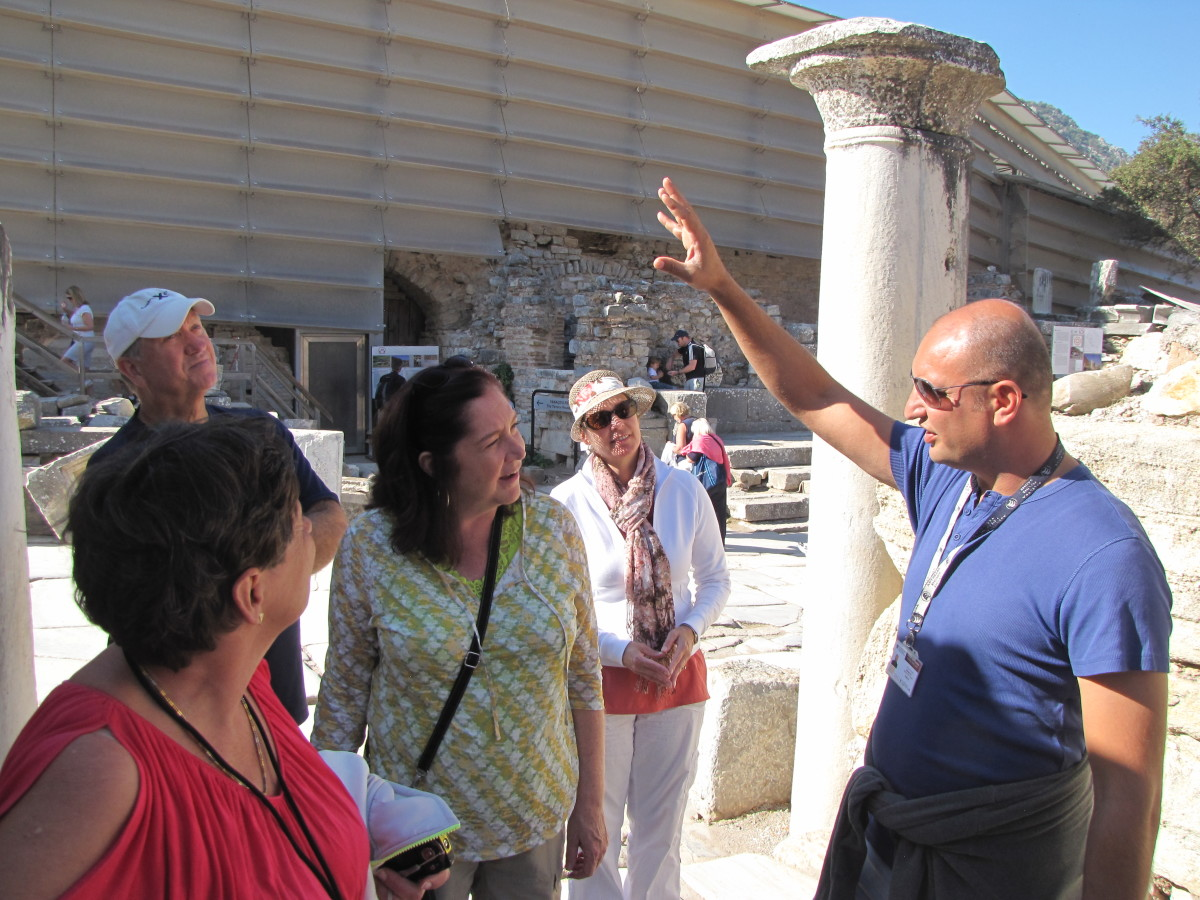 Our wonderful guide at Ephesus, Ertunga Ecir