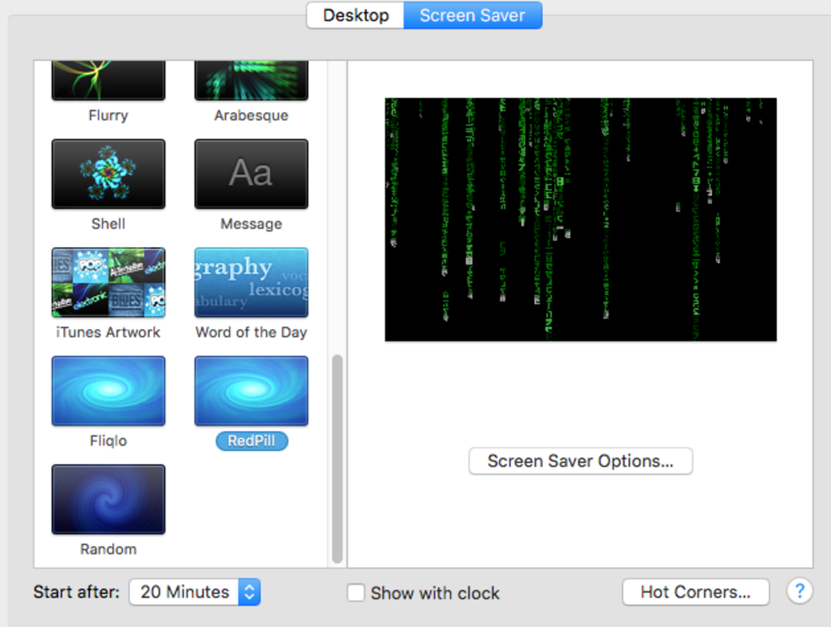 RedPill - Matrix Screen Saver for Mac OS X | HubPages