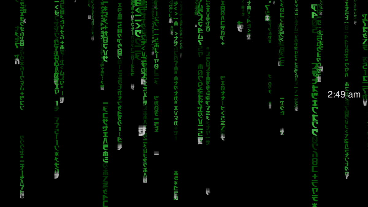 bildschirmschoner matrix